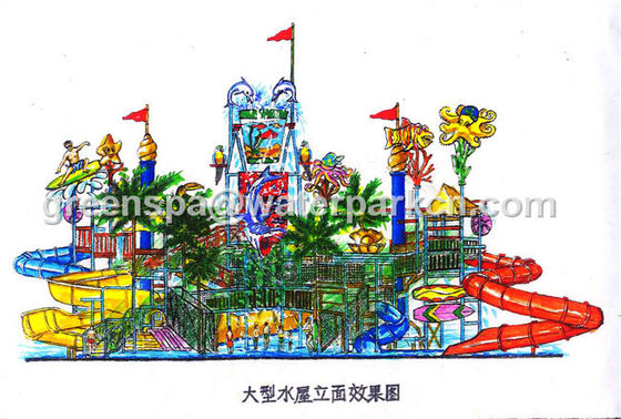 Kids Water Park Equipment / Water Park Games For Swimming Pool Water Park