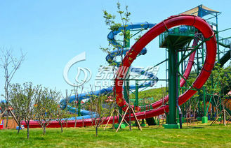 Water Park Fiberglass Water Slides / Extreme Water Slides For Swimming Pool Play Equipment
