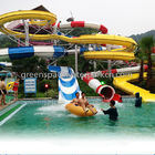 China Children Spray Park Equipment Colorful Fiberglass Water Slide SGS Certification factory