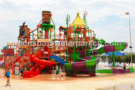 China Giant Aqua Park / Water Park Slides Integrated Amusement Ride With N Slide company