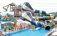 China Fiberglass Commercial Playground Equipment Long Funny For Aqua Fun Park factory