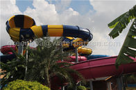 China Kids / Adult Outdoor Playground Water Park Fiberglass Water Slides For Aqua Park company