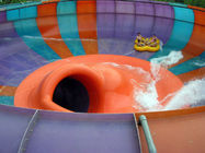 Adults and Kids Aqua Park Fiberglass Water Slides , 16m Height Waterpark Space Bowl Rider Slide