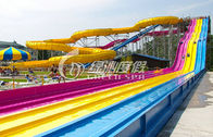 China Giant Interactive Racing Fiberglass Water Slides with Multi Lane , Customized distributor