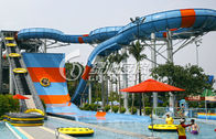 China Open or Close Spiral Water Slide / Blue Raft Slide for Commercial Water Park Equipment distributor