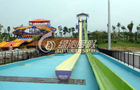 High speed Fiberglass Body Water Slide for Commercial Spray Park Equipment , Customized