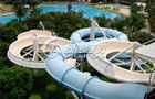 China Large Outdoor Waterpark Fiberglass Water Slides / Spiral Water Slide for Extreme Water Park company