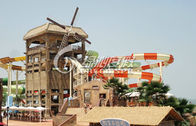 China Aqua Play Water Park  Spiral Water Slide for Kids or Adults Summer Entertainment factory