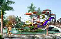 Exciting Children / Adults Outdoor Slide Water Park Games Open Spiral Raft Slides