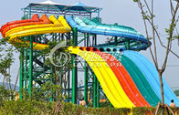 China Multi Lane Variable speed Race Water Slide , Water Park Equipment for Kids factory