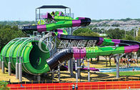 China Amusement Park Huge Anaconda Water Slide , Custom Fiberglass Water Slides for Adults factory