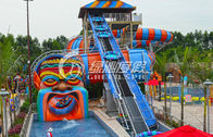 China Big Snake Water Slide Water Park Equipment , Customized Fiberglass Water Slides factory