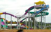 China Multi Color Large Fiberglass Water Slides , Extreme Water Slides for entertainment factory