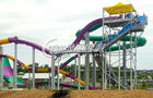 China Multi Color Large Fiberglass Water Slides , Extreme Water Slides for entertainment distributor