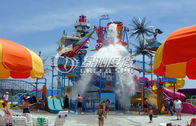 China Spray Park Equipment High Speed Fiberglass Water Slide for Summer Entertainment factory