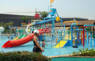 China Summer Entertainment Fiberglass Kids Water Playground Equipment with High Speed Spiral Water Slide factory