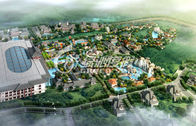 China Water Park Project Design with Fiberglass Space Bowl Water Slide , Hotspring Resort Project factory