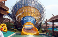 China Medium Fiberglass Tornado Water Slide Hurricane Aqua Slides for Swimming pool Funny game company