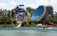 China Outdoor Anti UV Tornado Water Slide Pool with stainless steel screw 13.5m Height company