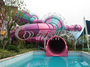 China Adults Outdoor Colorfull Fiberglass Water Slides Equipment for Water Sport Games distributor