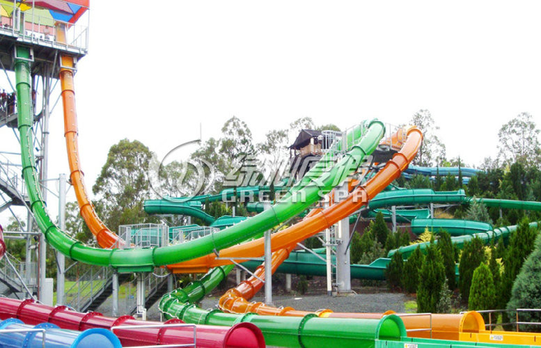 Big Spiral Fiberglass Water Slides for Kids and Adults Aqua park Sport Games 0.85m Dia