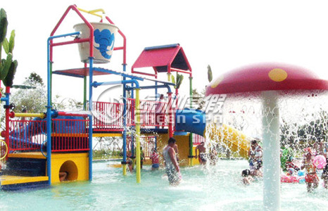 Fiberglass Kids Water Playground Raining Mushroom for Park Play Equipment