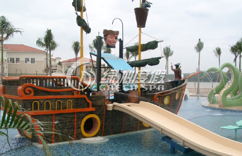 Amusement Park Equipment Comercial Playground Funny Pirate Ship , Colorful or Customized