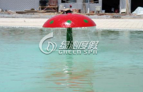Commercial Amusement Park Equipment Rainning Mushroom for Kids Adults water fun