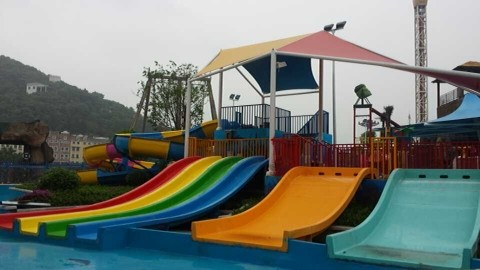 Children Swimming Pool Water Slide Fiberglass for Water Playground