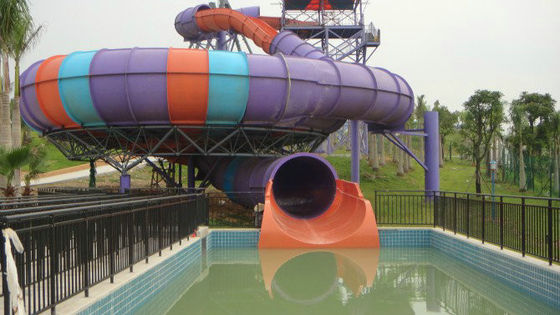 China Fiberglass Water Park Equipment Super Bowl Water Slide with 19m Height and 2 Rider factory