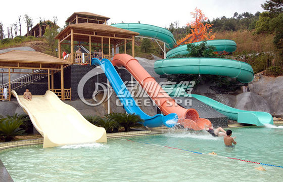 Extreme Water Slides Fiberglass Cannon / Sleigh Water Slide for Children Aqua Park Slide Game