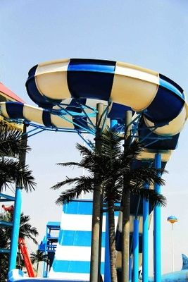 China Boomerang Water Slide Customized Raft Slide for Commercial Water Park Equipment factory