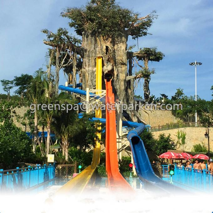 Indoor Single Water Park Equipment / Water Games With Big Water Slides Safety